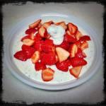 Erdbeeren mit Schokoquark