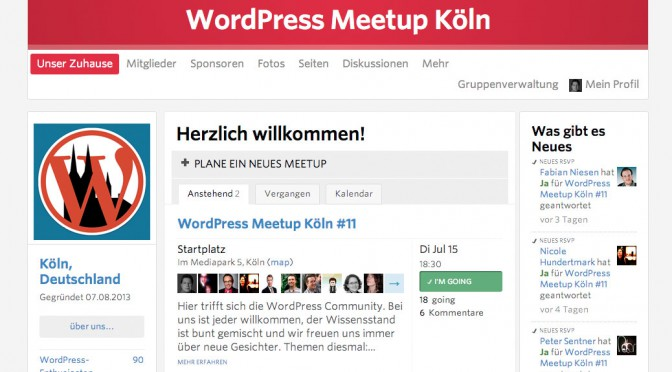 WordPress Meetup Köln im August