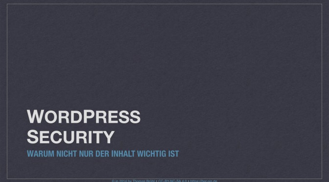 WordPress Security Teil I