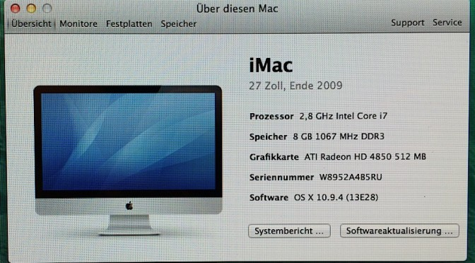 Zu Verkaufen: iMac 27″, THX Heimkino Verstärker, Blackrapid Cross Shot