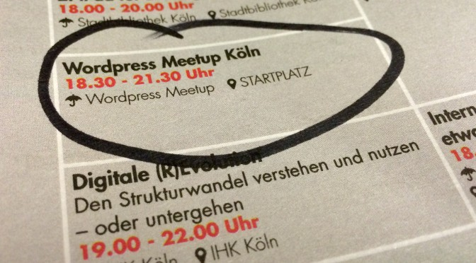 Notizen zum WordPress Meetup Köln #25