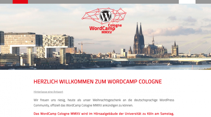 WordCamp Cologne MMXV angekündigt