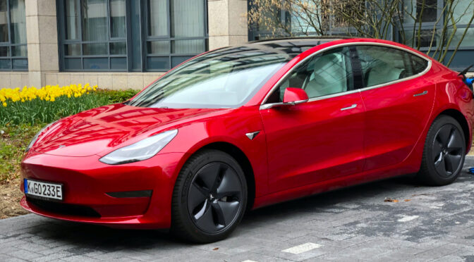 Finally – Firestarter – My Tesla Model 3 – has landed :-D